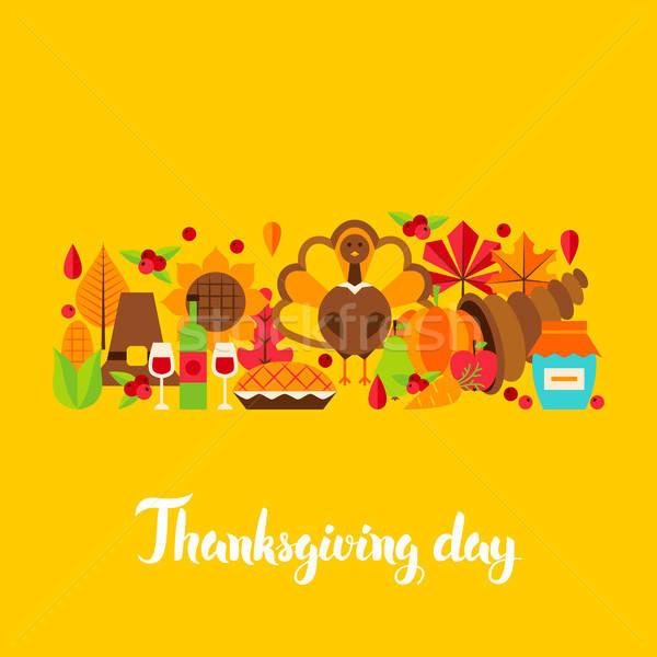 Thanksgiving Day Postcard Stock photo © Anna_leni