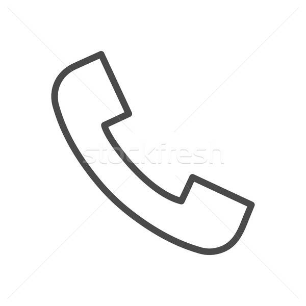 Phone Call Line Icon Stock photo © Anna_leni