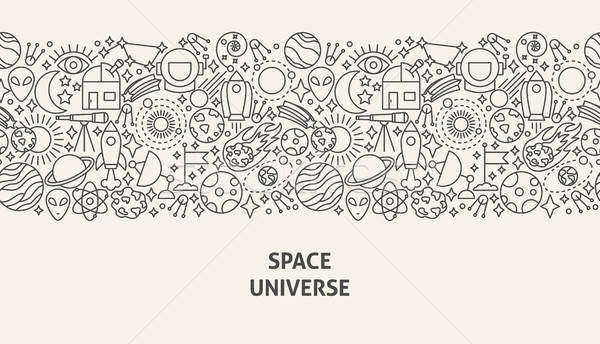Space Universe Banner Concept Stock photo © Anna_leni