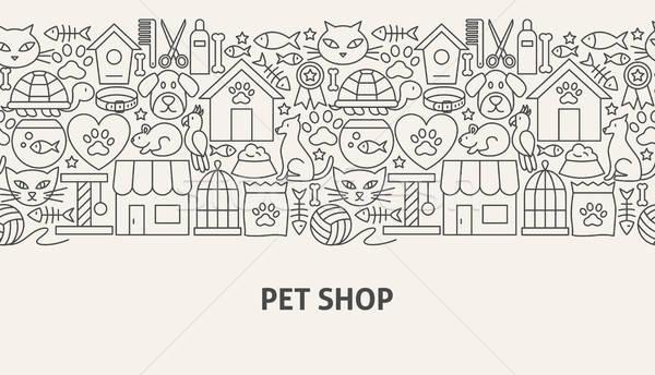 Pet Shop Banner Concept Stock photo © Anna_leni