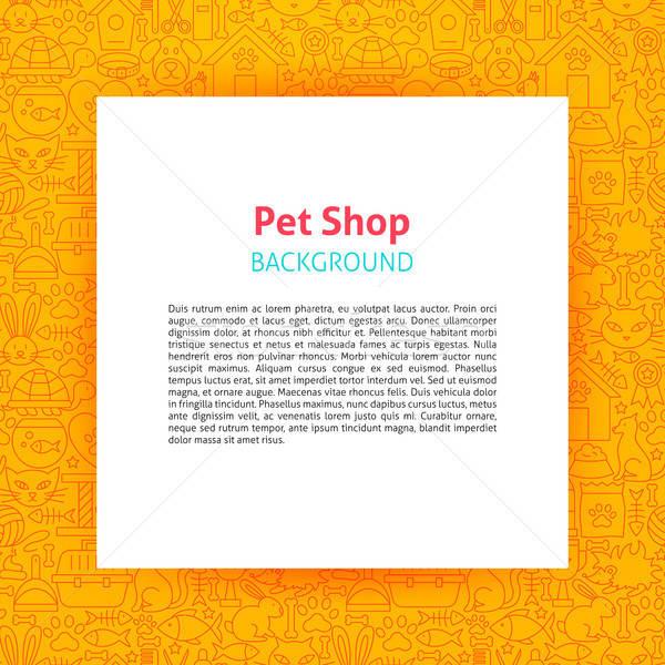 Pet Shop Paper Template Stock photo © Anna_leni