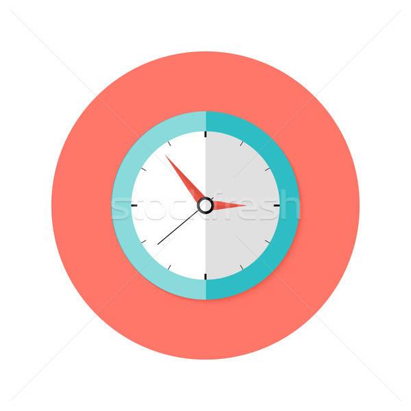 часы круга икона иллюстрация служба рабочих Сток-фото © Anna_leni