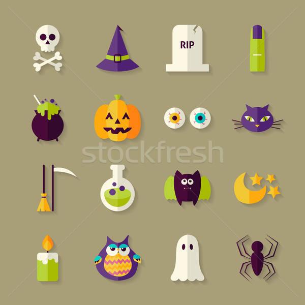Zdjęcia stock: Magic · halloween · witch · obiektów · zestaw · cień