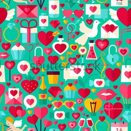 Сток-фото: Валентин · день · вектора · дизайна · синий
