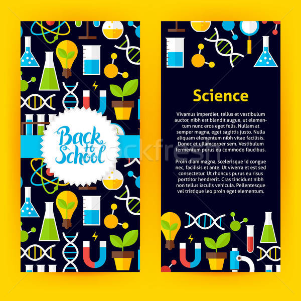 Flyer Template Back to School Science Stock photo © Anna_leni