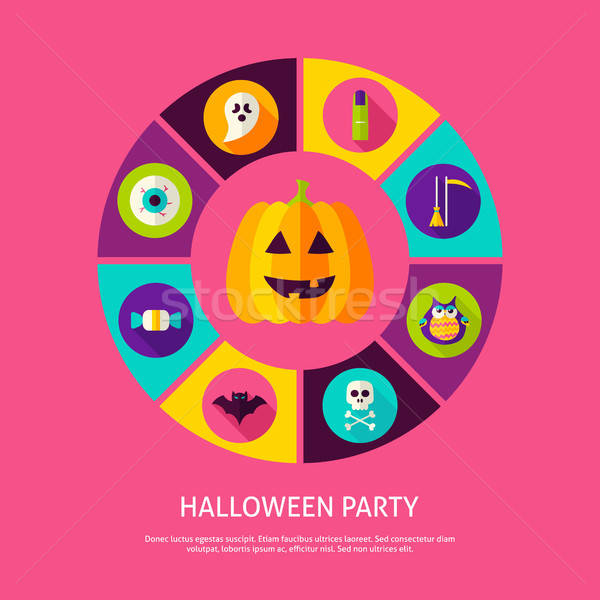 Halloween Party Infographic Concept Stock photo © Anna_leni