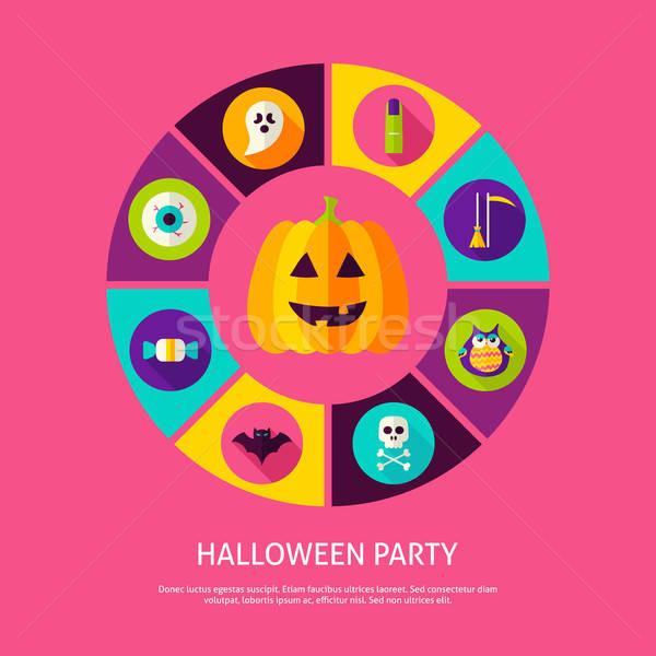 Halloween strony sztuczka infografiki Zdjęcia stock © Anna_leni