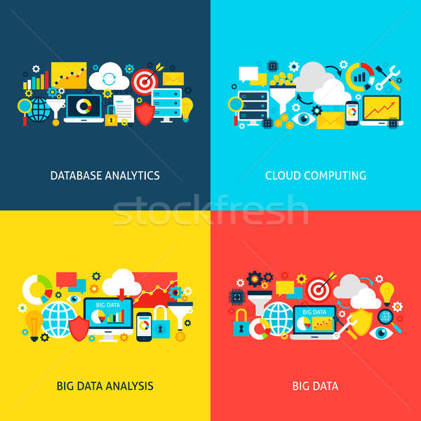 Big Data Vector Concepts Stock photo © Anna_leni