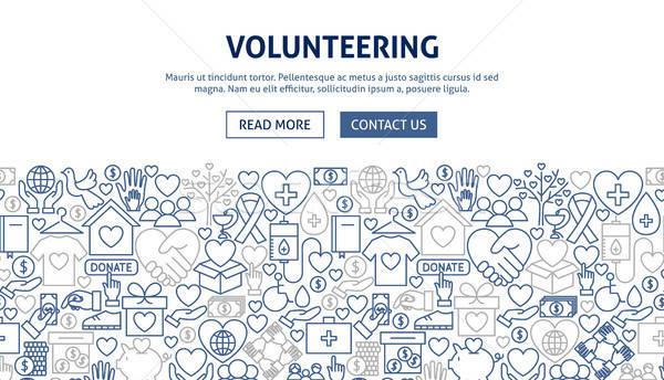 Volunteering Banner Design Stock photo © Anna_leni