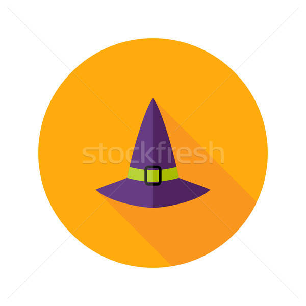 Halloween kapelusz czarownicy ikona zabawy wakacje strach Zdjęcia stock © Anna_leni