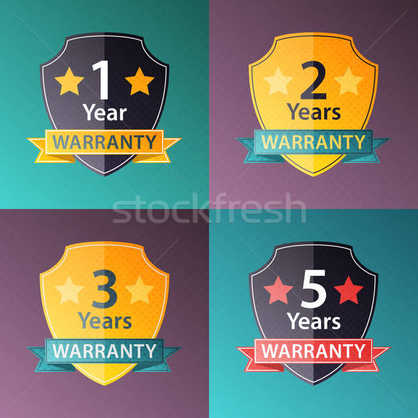Warranty signs set in halftone texture style Stock photo © Anna_leni