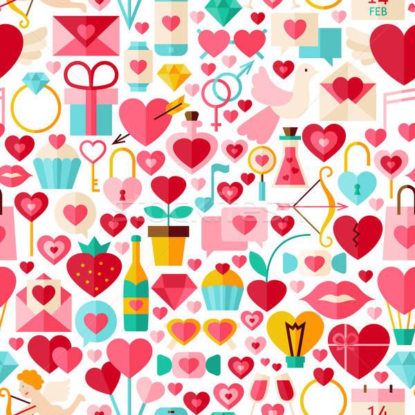 Валентин день вектора дизайна белый Сток-фото © Anna_leni