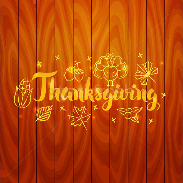 Thanksgiving over Wooden Board Stock photo © Anna_leni