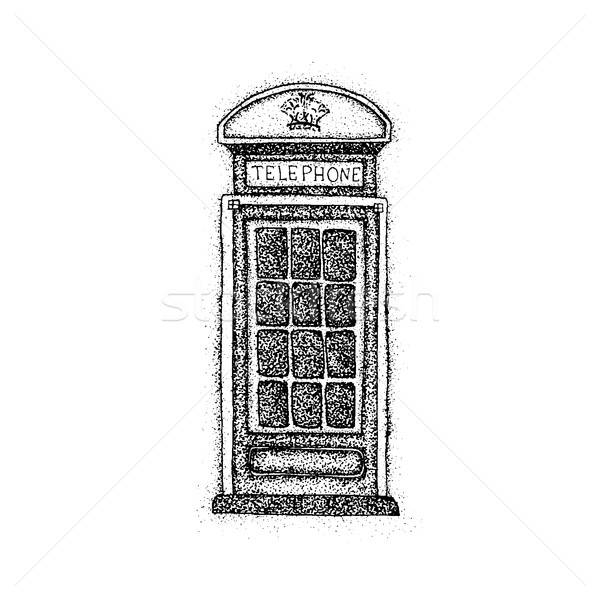 Dotwork London Telephone Box Stock photo © Anna_leni