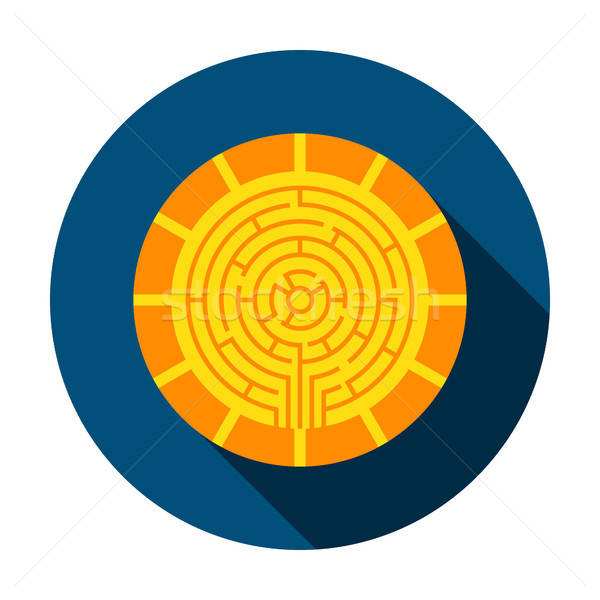 Stock photo: Cryptocurrency Coin Circle Icon