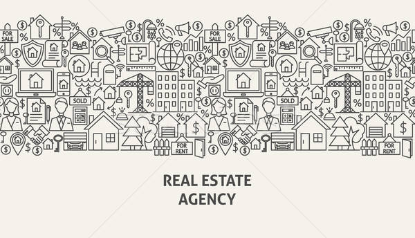 Real Estate Agency Banner Concept Stock photo © Anna_leni