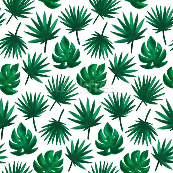 Tropical Leaf Seamless Pattern Stock photo © Anna_leni