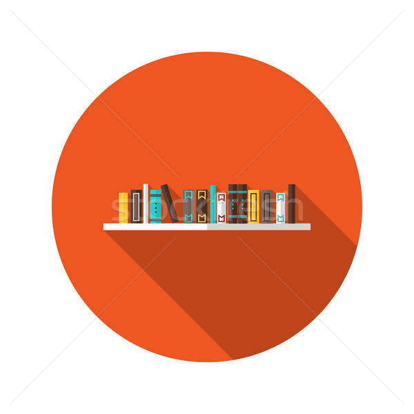 Book Shelve flat icon Stock photo © Anna_leni