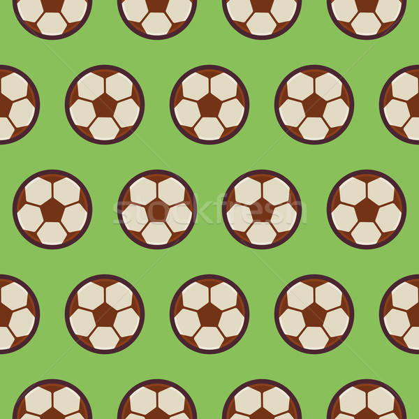 Flat Vector Seamless Sport and Recreation Pattern Football Socce Stock photo © Anna_leni