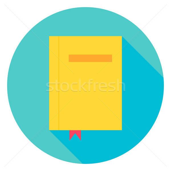 Kitap imi daire ikon dizayn uzun Stok fotoğraf © Anna_leni