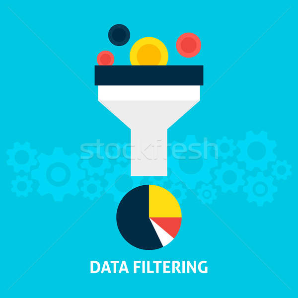 Data Filtering Flat Concept Stock photo © Anna_leni