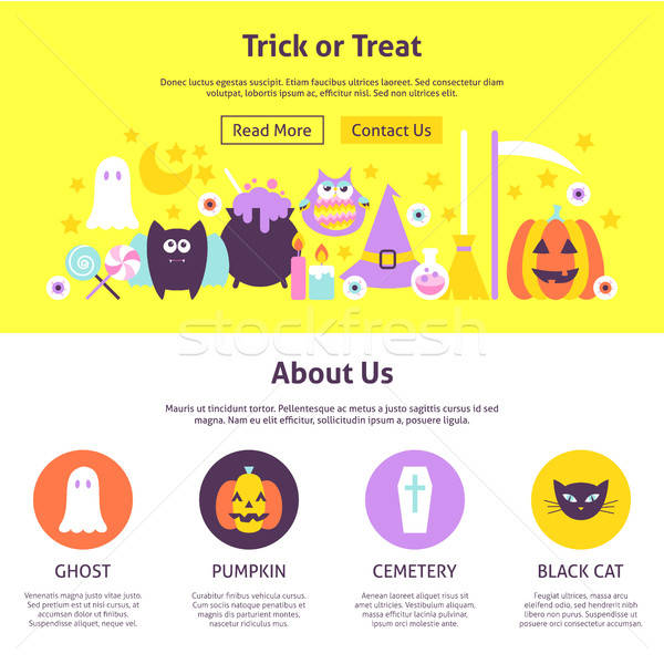 Stock photo: Trick or Treat Website Design
