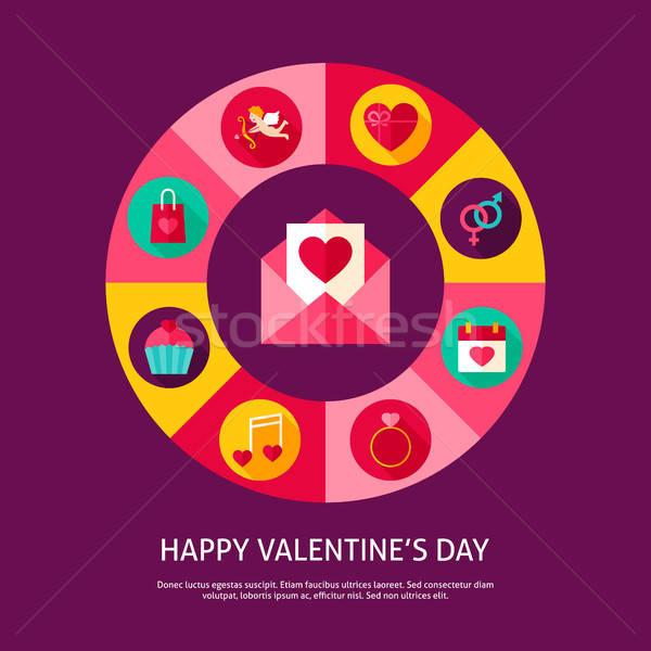 счастливым Валентин день любви праздник Инфографика Сток-фото © Anna_leni
