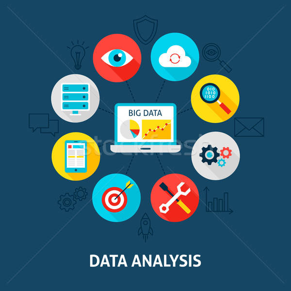 Concept Data Analysis Stock photo © Anna_leni