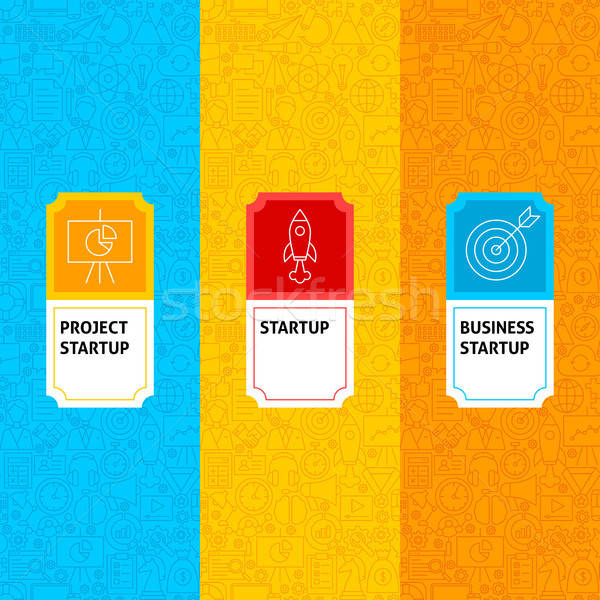Line Startup Package Labels Stock photo © Anna_leni