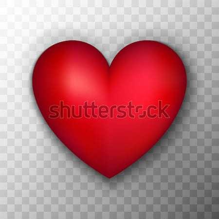 красный сердце прозрачный реалистичный любви объект Сток-фото © Anna_leni