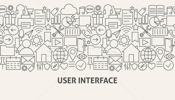 Felhasználó interfész szalag vonal web design számítógép Stock fotó © Anna_leni