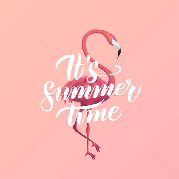 Stock photo: Flamingo Summer Time