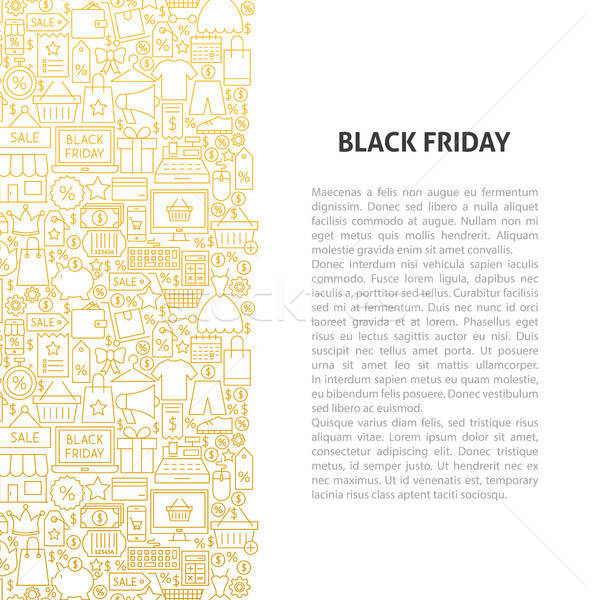 Black Friday Line Pattern Concept Stock photo © Anna_leni