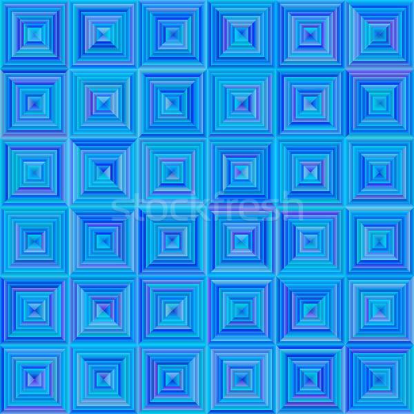 Seamless Squared Blue Pattern Stock photo © Anna_leni