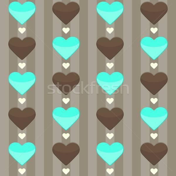 Veel harten bruin illustratie hart Stockfoto © Anna_leni