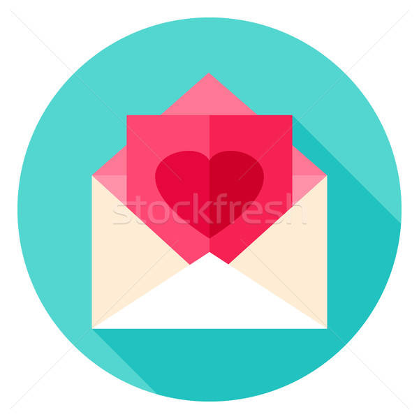 Love Post Circle Icon Stock photo © Anna_leni