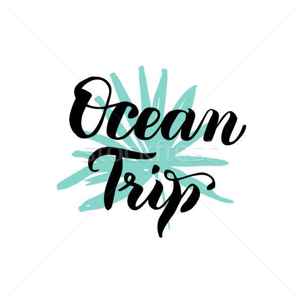 óceán utazás kalligráfia nyár trópusi dizájn elem Stock fotó © Anna_leni