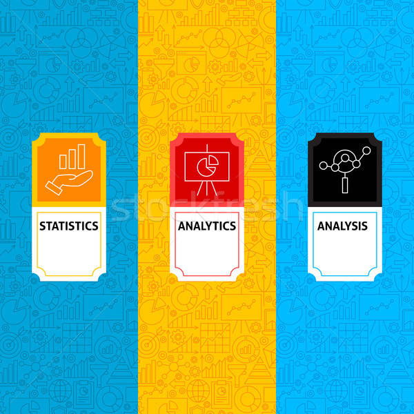 Line Analytics Package Labels Stock photo © Anna_leni