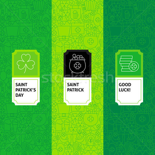 Line Saint Patrick Package Labels Stock photo © Anna_leni