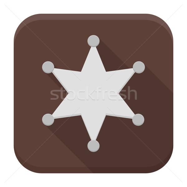 シェリフ 星 アプリ アイコン 長い 影 ストックフォト © Anna_leni