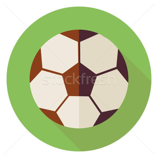 Sportowe piłka piłka nożna piłka nożna kółko ikona Zdjęcia stock © Anna_leni
