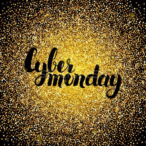 Cyber Monday Gold Design Stock photo © Anna_leni