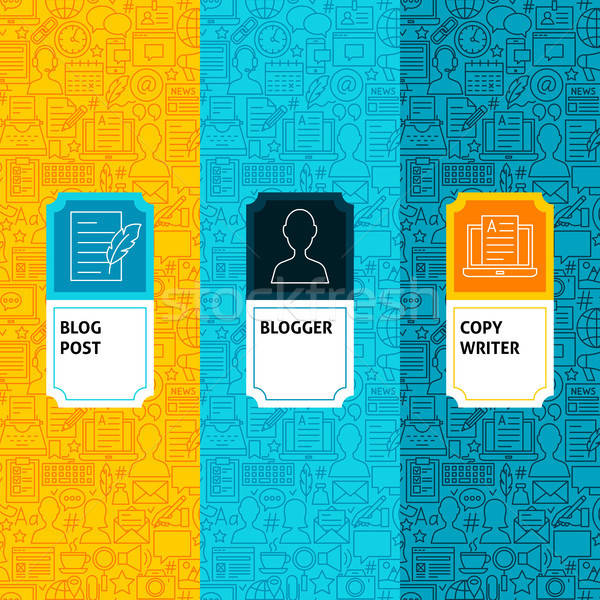 Line blogging pakiet szablon opakowań Zdjęcia stock © Anna_leni