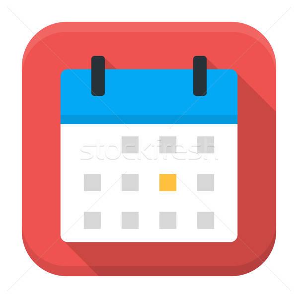 Calendar app icon with long shadow Stock photo © Anna_leni