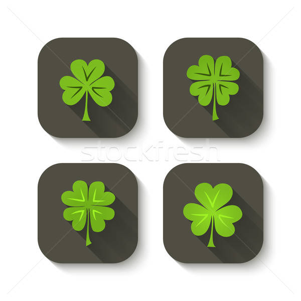 зеленый клевера иконки дизайна знак маркетинга Сток-фото © Anna_leni