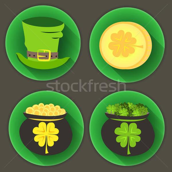 St Patrick Day four icons Stock photo © Anna_leni