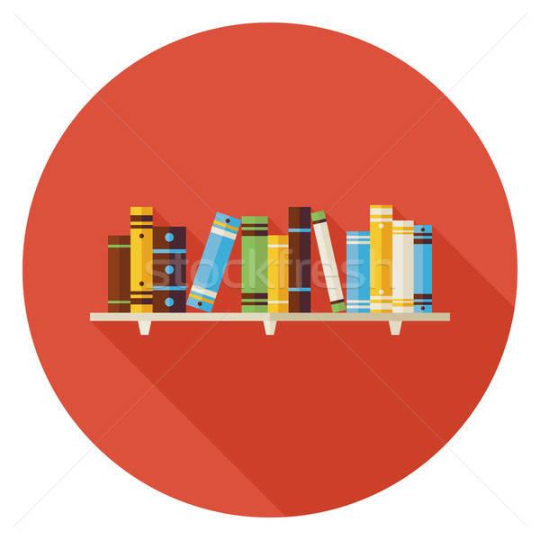 образование чтение книгах книжная полка икона долго Сток-фото © Anna_leni