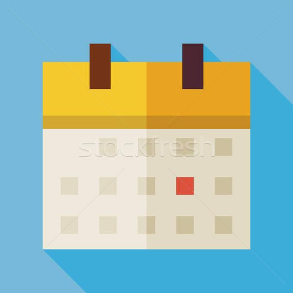 Kantoor kalender illustratie lang schaduw Stockfoto © Anna_leni
