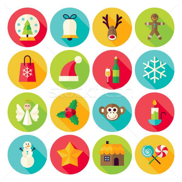 Invierno Navidad año nuevo círculo largo Foto stock © Anna_leni