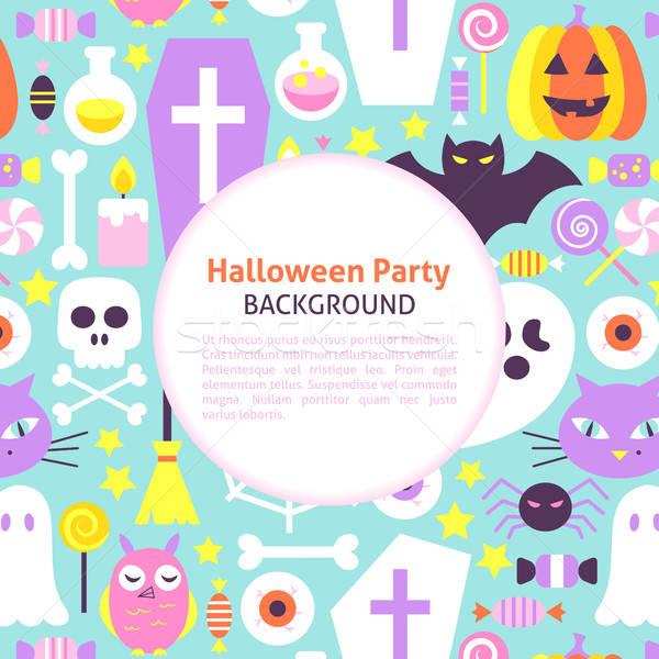 Halloween Party Trendy Background Stock photo © Anna_leni